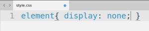 CSS display:none; Aldi Unanto